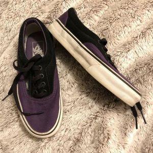 Purple & black thick sole Vans Women's 6